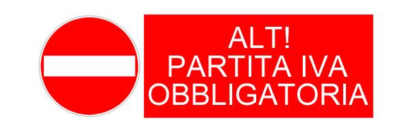 Partita Iva Obbligatoria